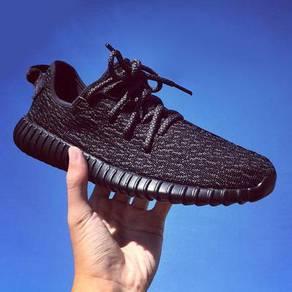 Mens Black Sneakers Sports Shoes Kasut Sukan Hitam