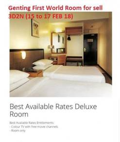 CNY -Genting First World Standard room 3D2N for