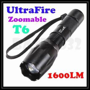 Zoomable Ultrafire T6 Led Flashlight Torchlight 7-