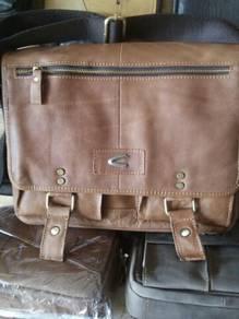 Beg silang pejabat atau serbaguna kulit asli