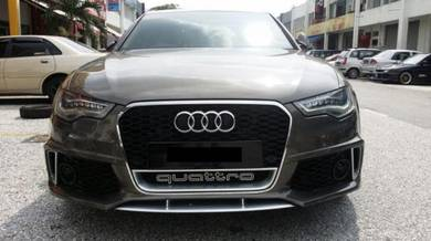 Audi A6 RS6 Bodykit bumper diffuser Tail pipe set