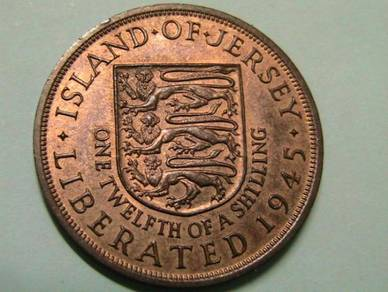 Bailiwick of Jersey 1/12 of a Shilling 1945 (UNC)