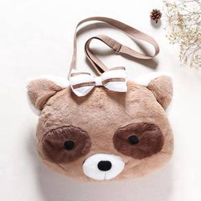 Plush Soft toy 3d slingbag bag raccoon red panda