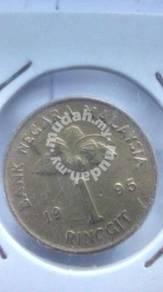 (CN 0010) 1995 Malaysia Keris 1 Ringgit Coin