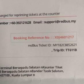 Tiket tbs ke terengganu 14/2/2018