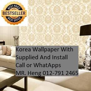 Beautiful In Wall paper with Installation jr83hr23
