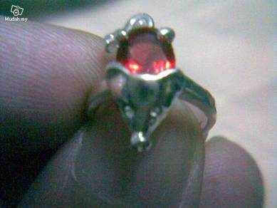 ABRSB-M003 Mouse Silver Red Bead Ring - Size 4