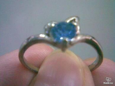 ABRSB-L001 BLUE Gemstone Jewelry Silver Ring Sz 9