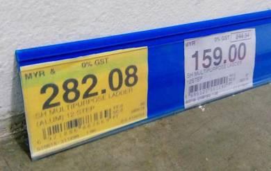 4 Feet Blue PVC Data Strip For Supermarket Shelves