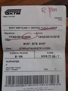 Tiket KTM