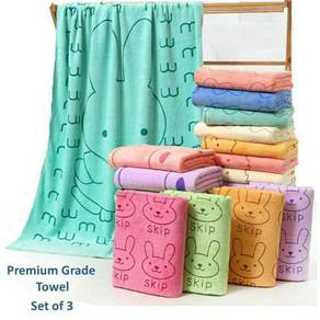 Premium Microfiber Absorbent Towel ( set of 3 )