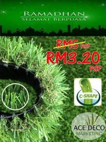 Premium Artificial Grass Rumput Tiruan C30mm