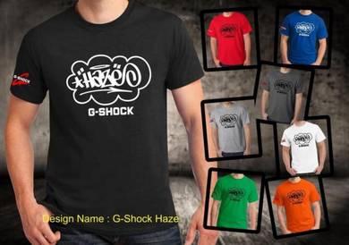 Tshirt Baju HAZE G-SHOCK TSV Siap Pos Laju