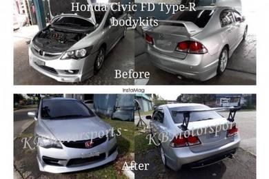 Honda Civic Mugen/JSRacing Spoiler