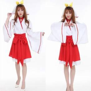 Hatsune miku vocaloid kimono cosplay costume