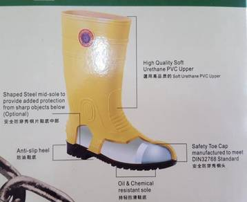 Kasut Hujan Safety