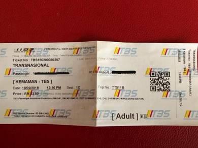 Ticket bus (Ticket bas) Tbs-Kmn & Kmn-Trg