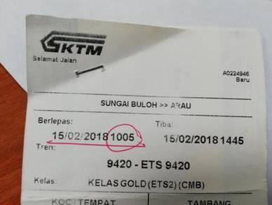 ETS Ticket - Sg.Buloh to Arau (One Way only)