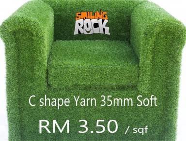 C Shape 35mm Soft Artificial Grass