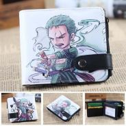 Anime One Piece zoro luffy tony Law Short Wallet