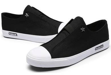 S0230 Sneakers Loafers Black Modish Slip-ons Shoes