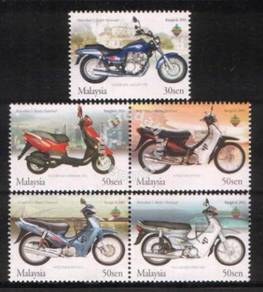 Mint Stamps Motorcycle Scooter Overprint Msia 2003