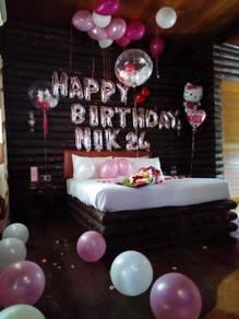 Room Decorations- Hias Bilik Birthday party