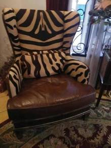 Genuine zebra leather skin . interested buyer only