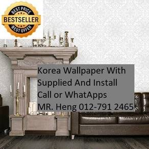 Design Decor Wall paper with Install ds655