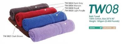 Bath Towel Cotton 100% 20InchX40Inch 185gsm TW08XX