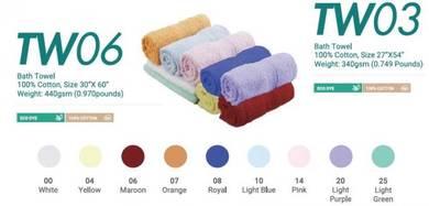Bath Towel Cotton 100% 27InchX54Inch 340gsm TW03XX