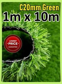 C20mm 1m x 10m Artificial Grass / Rumput Tiruan