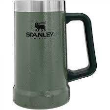 Stanley Vacuum Steel Stein 24oz Hammertone Green