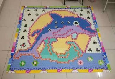 Jumping Dolphin Single Bed Homemade Blanket