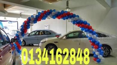 Car Showroom Arch Balloon Entrance 00112