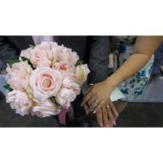 Artificial flower bouquet for wedding or housedeco