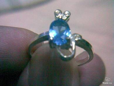 ABRSB-M002 Mice Silver Blue Bead Ring - Size 6.5