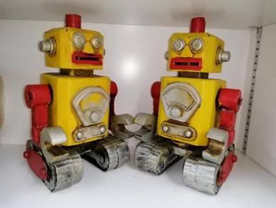 TABUNG ROBOT Besi Tin Toy Coin Box, Coin Bank