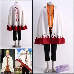Seventh hokkage Naruto cosplay costume
