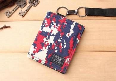 Jeminal camouflage canvas wallet B ab159