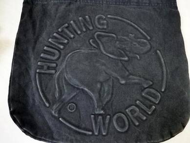 HUNTING WORLD tote bag jeans kueii