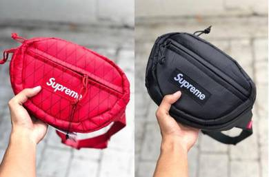 Supreme pouch beg black & red