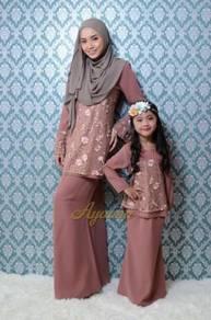 Sedondon Nisha floral lace kurung 0011