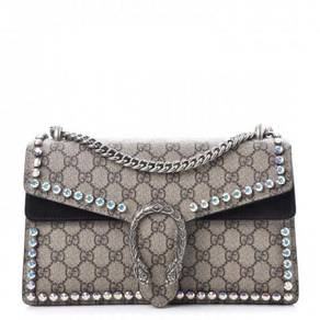 GUCCI GG Supreme Monogram Crystal Small Dionysus