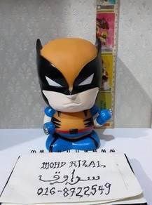 Tabung WOLVERINE Coin Bank Box X-Men Xmen 1996