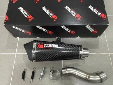 Scorpion Carbon Slip On Honda CBR500R / CB500X