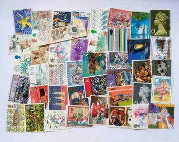 G Britain all in big stamps selection 50 pcs BL175