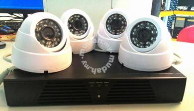 4 Channel DVR and 4 Dome Cameras