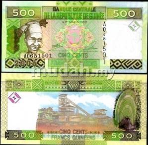 Guinea 500 francs 2006 p 39 unc
