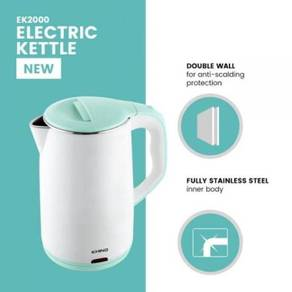 Khind Electric Kettle EK2000 2L Double wall-NEW